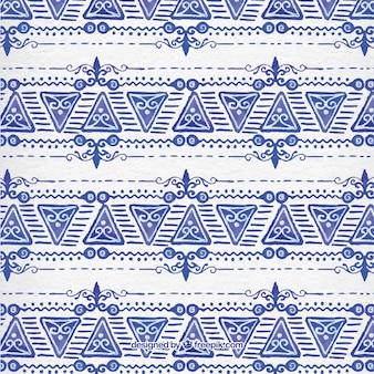 수채화 삼각형 장식 패턴