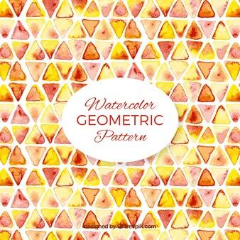 水彩の三角形のパターン