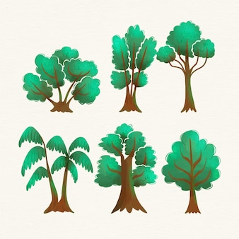 Watercolor type of trees