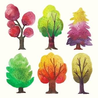 Tipo di acquerello di alberi