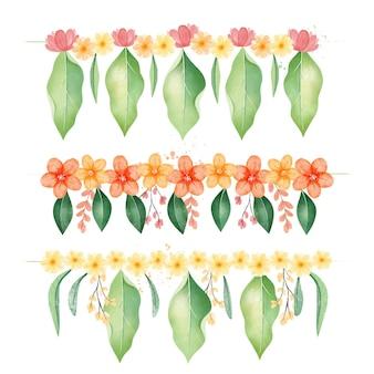 Watercolor ugadi garland illustration