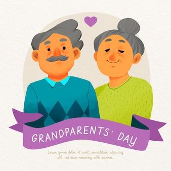 Акварель сша национальный день бабушек и дедушек
