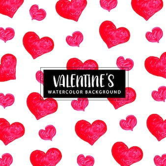 Watercolor valentine background