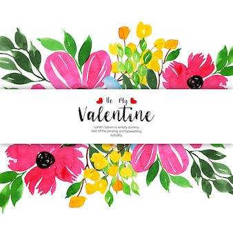 Watercolor valentine backgrounds