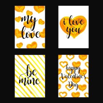 水彩バレンタインカードコレクション