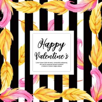 Watercolor Valentine Frames
