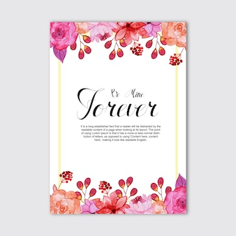 Watercolor valentine greeting cards