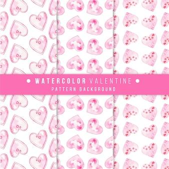 Watercolor Valentine Heart Pattern