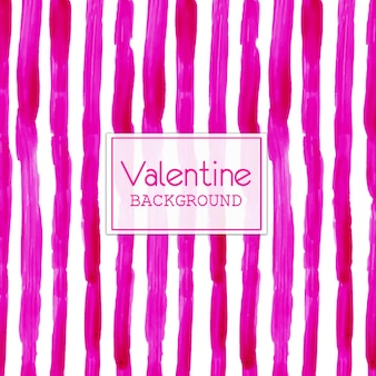 Watercolor valentine pink lines background Free Vector