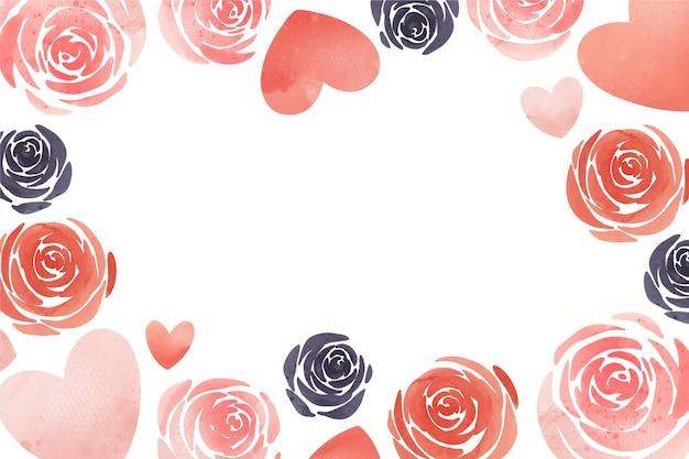 水彩バレンタインデーの背景