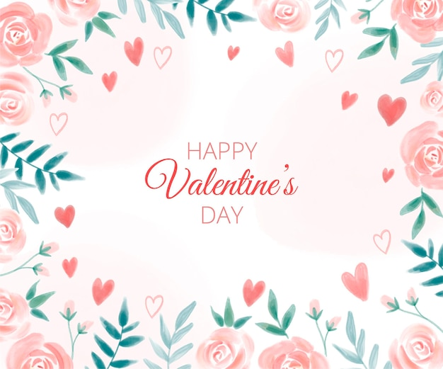Watercolor valentine's day wallpaper
