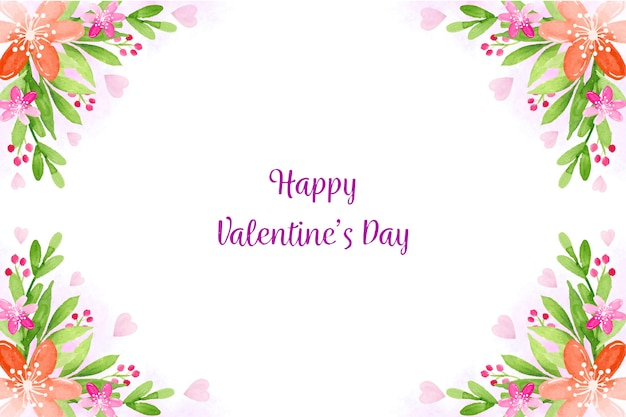 Watercolor valentines day background theme