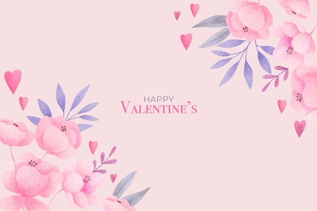 Watercolor valentines day background