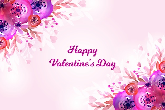 Watercolor valentines day wallpaper theme