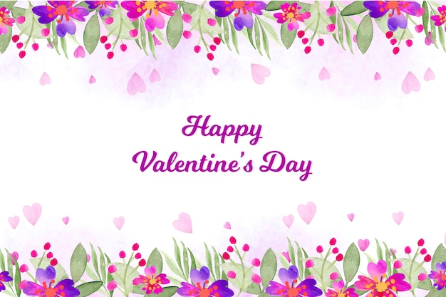 Watercolor valentines day wallpaper