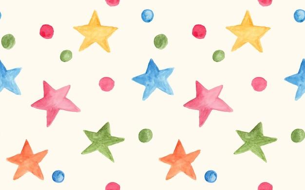 Акварель различные звезды как бесшовный фон