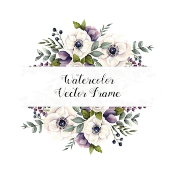 Watercolor vector frame