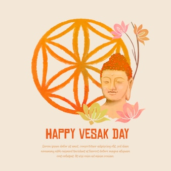 Watercolor vesak concept