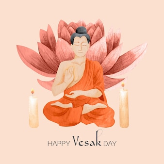Illustrazione dell'acquerello vesak day