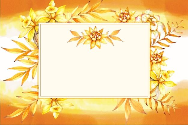 水彩ビンテージスタイルの花のフレーム