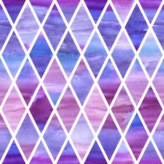 Watercolor violet rumb seamless pattern
