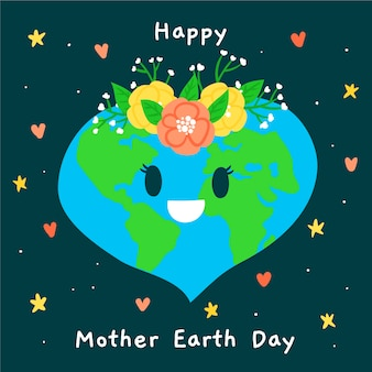 Watercolor wallpaper mother earth day