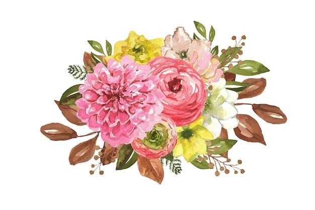 수채화 따뜻한 가을 옷 클립 아트 패션 옷