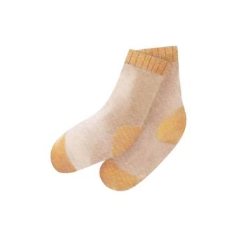 Watercolor warm socks illustration