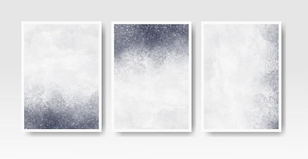 招待カードテンプレートコレクションの水彩ウォッシュスプラッシュ