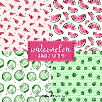 수채화 수박 패턴