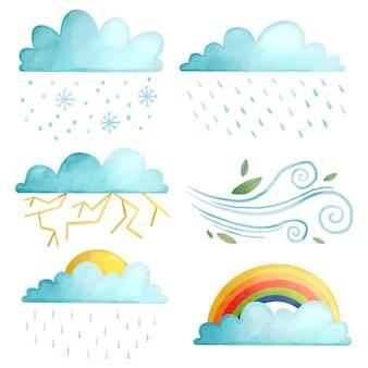水彩の天気効果