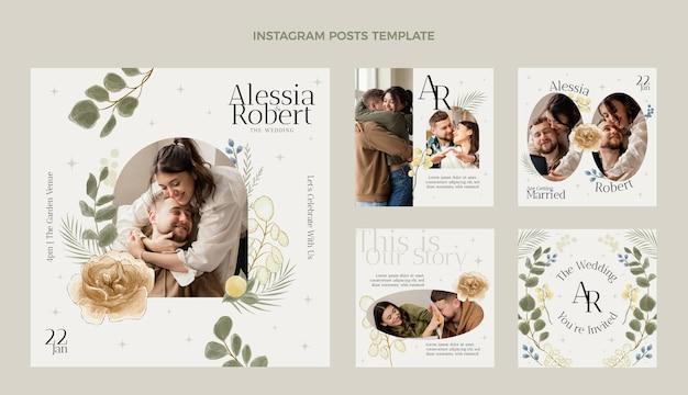 水彩の結婚式のinstagramの投稿コレクション