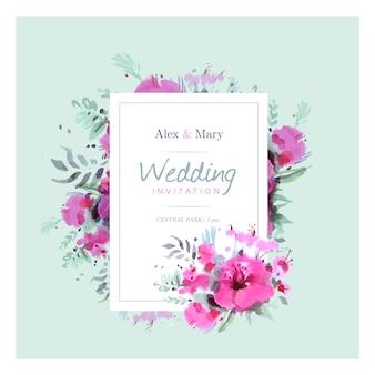 Watercolor wedding invitation background
