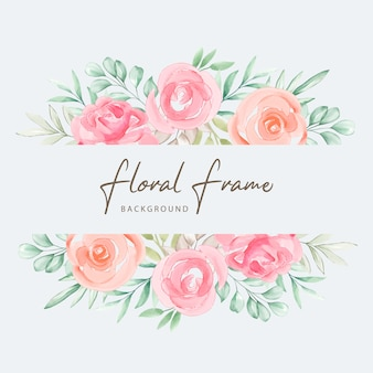水彩の結婚式の招待カードのデザイン