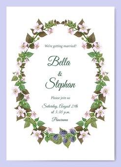 수채화 결혼식 초대장 템플릿입니다. 초대장 및 카드 프레임입니다.