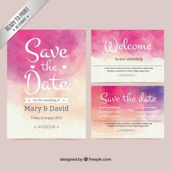 水彩結婚式の招待状
