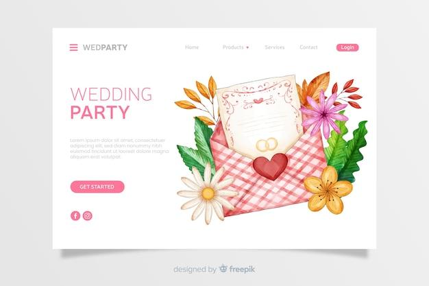 Watercolor wedding landing page