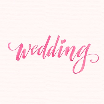 Watercolor wedding lettering