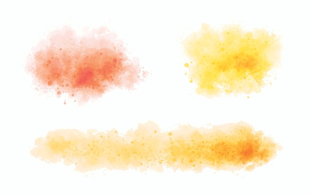 Watercolor on white background vector illustration