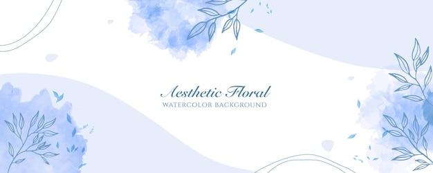 Акварельная широкая обложка баннера или реклама веб-страницы. акварель абстрактные брызги светло-голубой блестящий широкий вертикальный вектор фон шаблон. для красоты, свадьбы, макияжа, украшений. романтичный женский