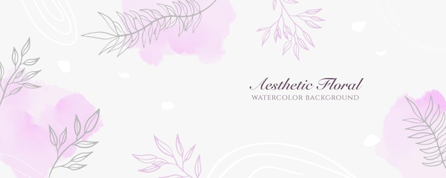 Акварельная широкая обложка баннера или реклама веб-страницы. акварель абстрактные брызги розовый пастельный блестящий широкий вертикальный вектор фон шаблон. для красоты, свадьбы, макияжа, украшений. романтичный женский