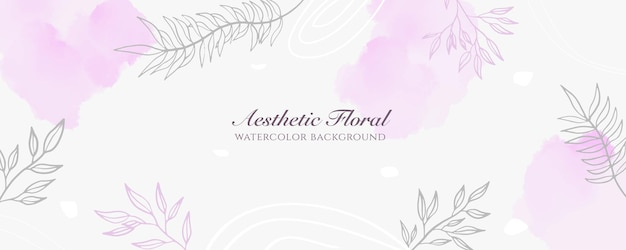 Watercolor wide banner cover or web page advertising. watercolor abstract splatter pink pastel shiny wide vertical vector background template. for beauty, wedding, make up, jewelry. romantic feminine