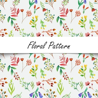 Watercolor wild flower seamless pattern background