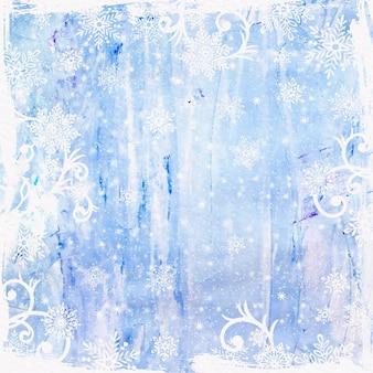 水彩冬の背景コピースペース
