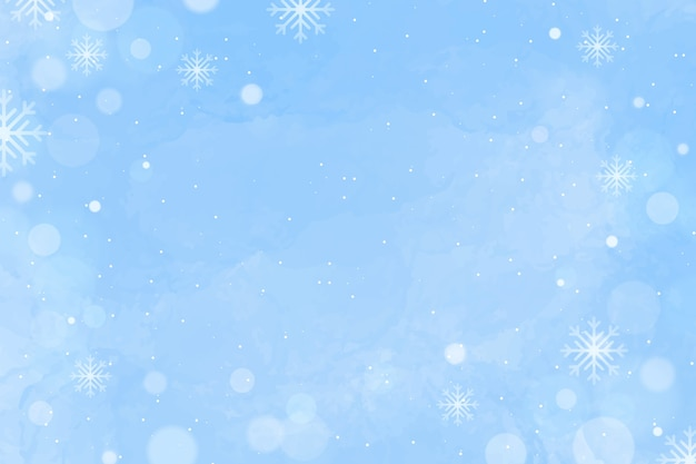 Watercolor winter background with empty space