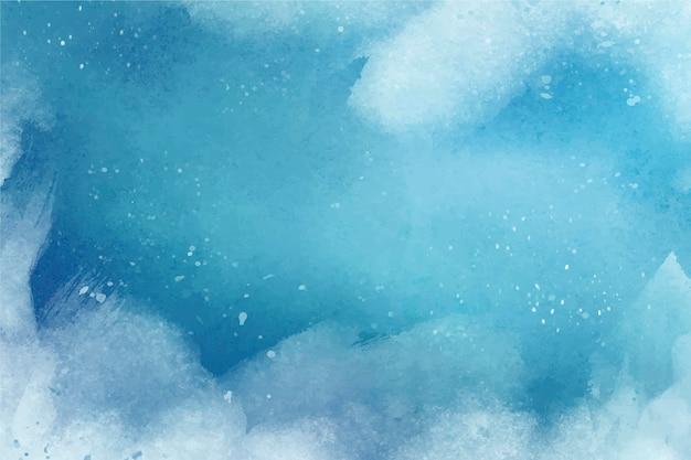 Акварельный зимний фон