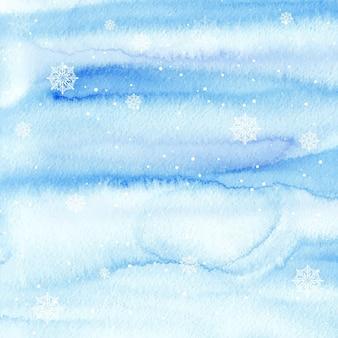 水彩冬の背景