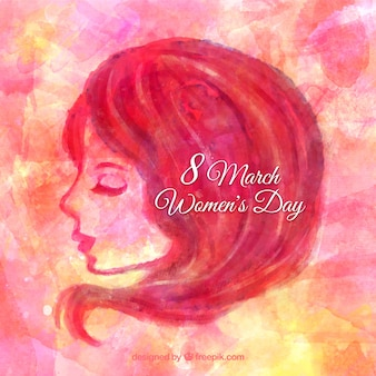 Watercolor woman background