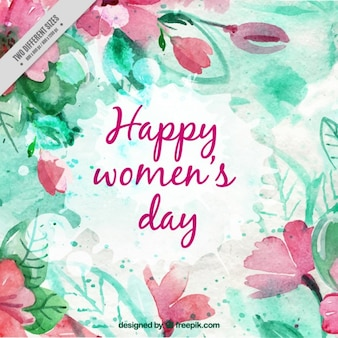 Watercolor Women Day Background