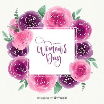 Watercolor women's day background